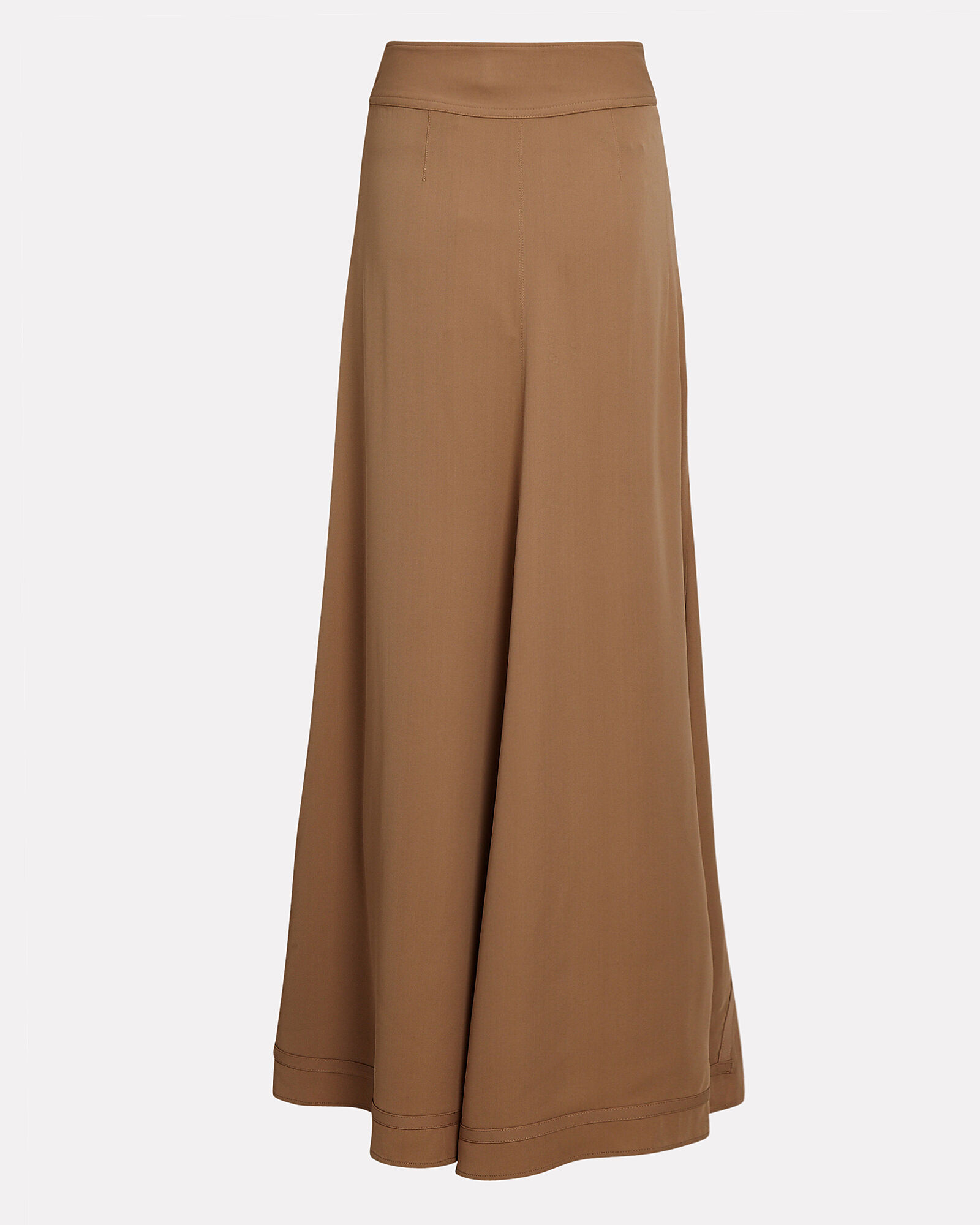 Asymmetrical Layered Midi Skirt, BROWN, hi-res