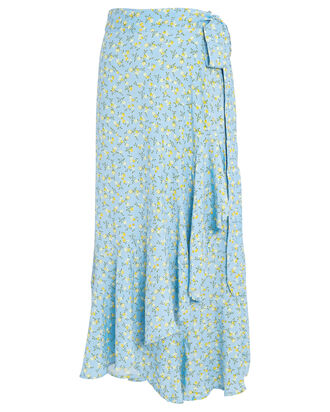 Aubrie Floral Wrap Skirt, BLUE-LT, hi-res