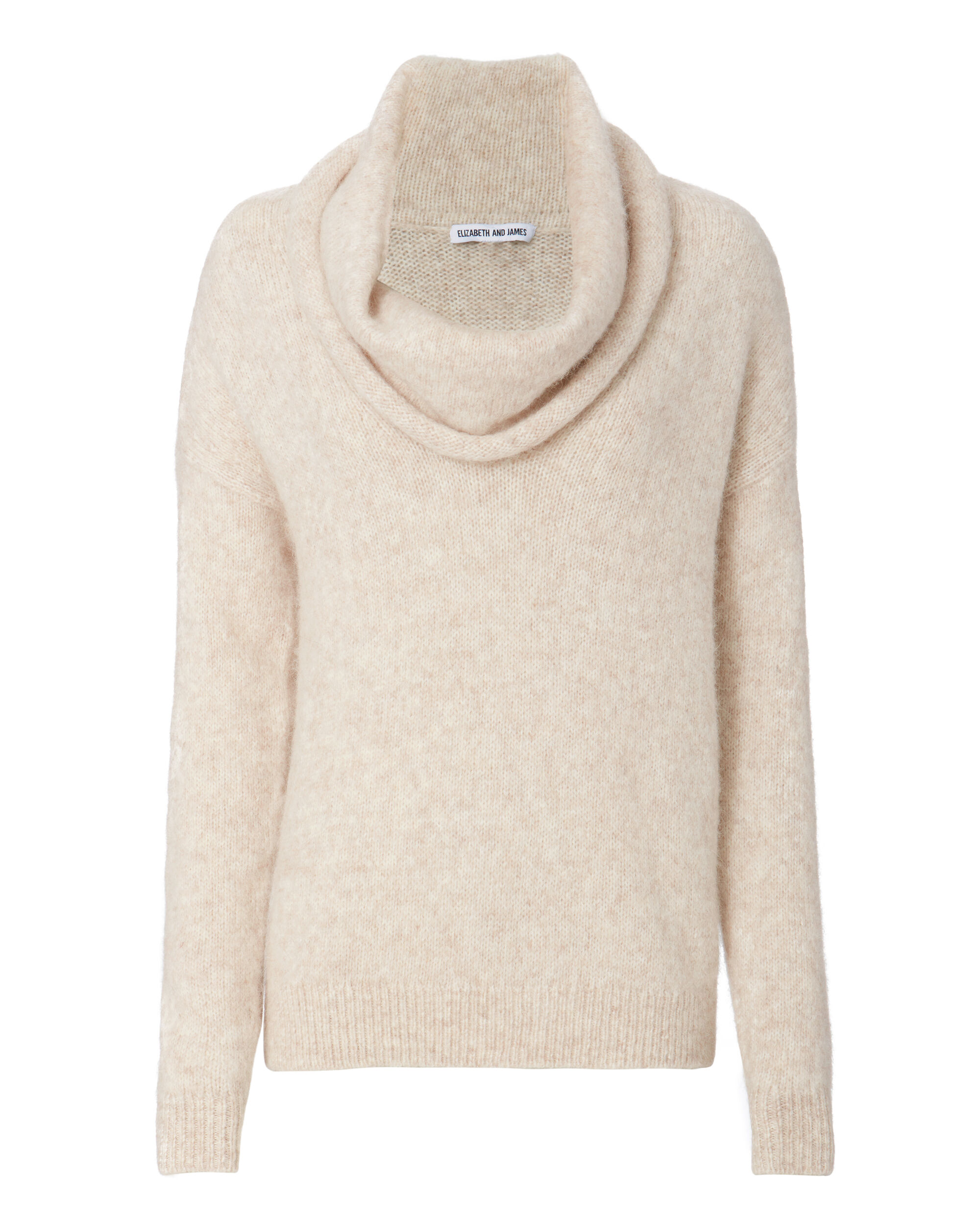Gracelyn Cowl Neck Sweater, BEIGE, hi-res