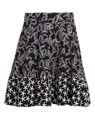 Toy Flutter Snake Mini Skirt, BLACK/WHITE, hi-res