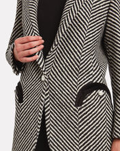 Sedov Weekend Herringbone Blazer, BLK/WHT, hi-res
