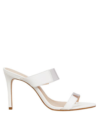 Adinna PVC Strap Sandals, WHITE, hi-res