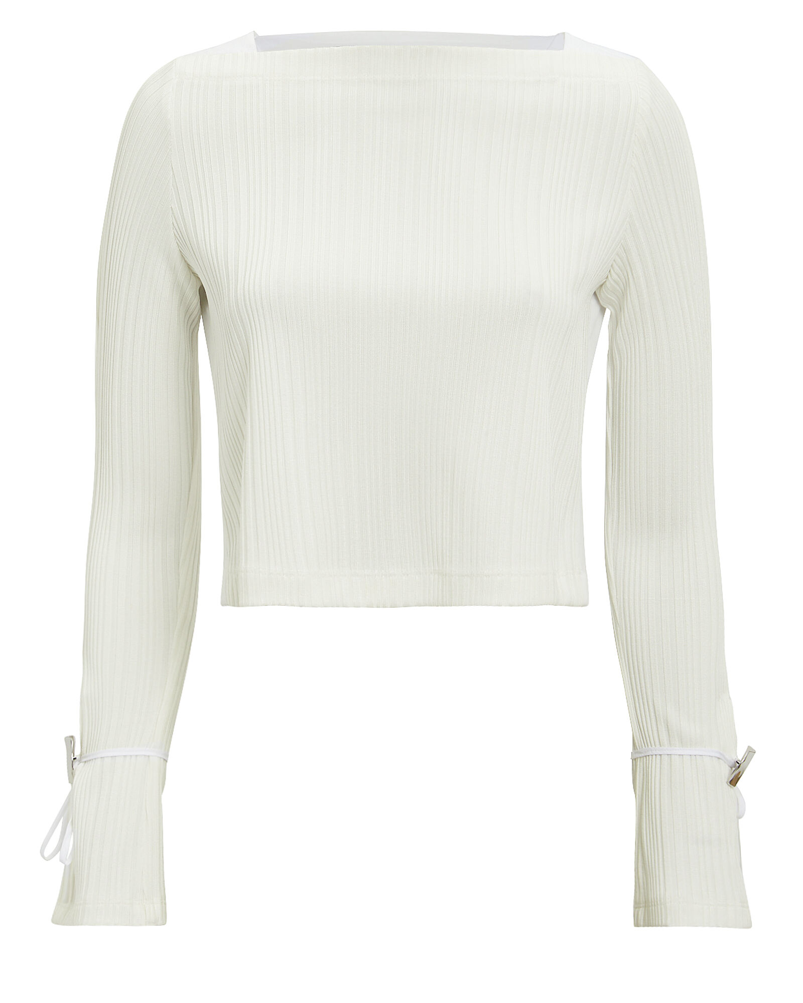 Crepe Top With Button Details, WHITE, hi-res