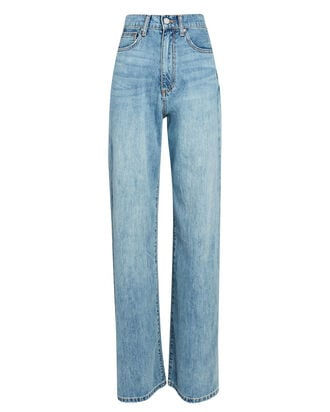 High-Rise Wide-Leg Jeans, LIGHT WASH DENIM, hi-res