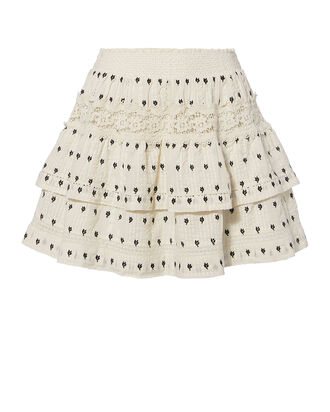 Taylor Mini Skirt, IVORY, hi-res