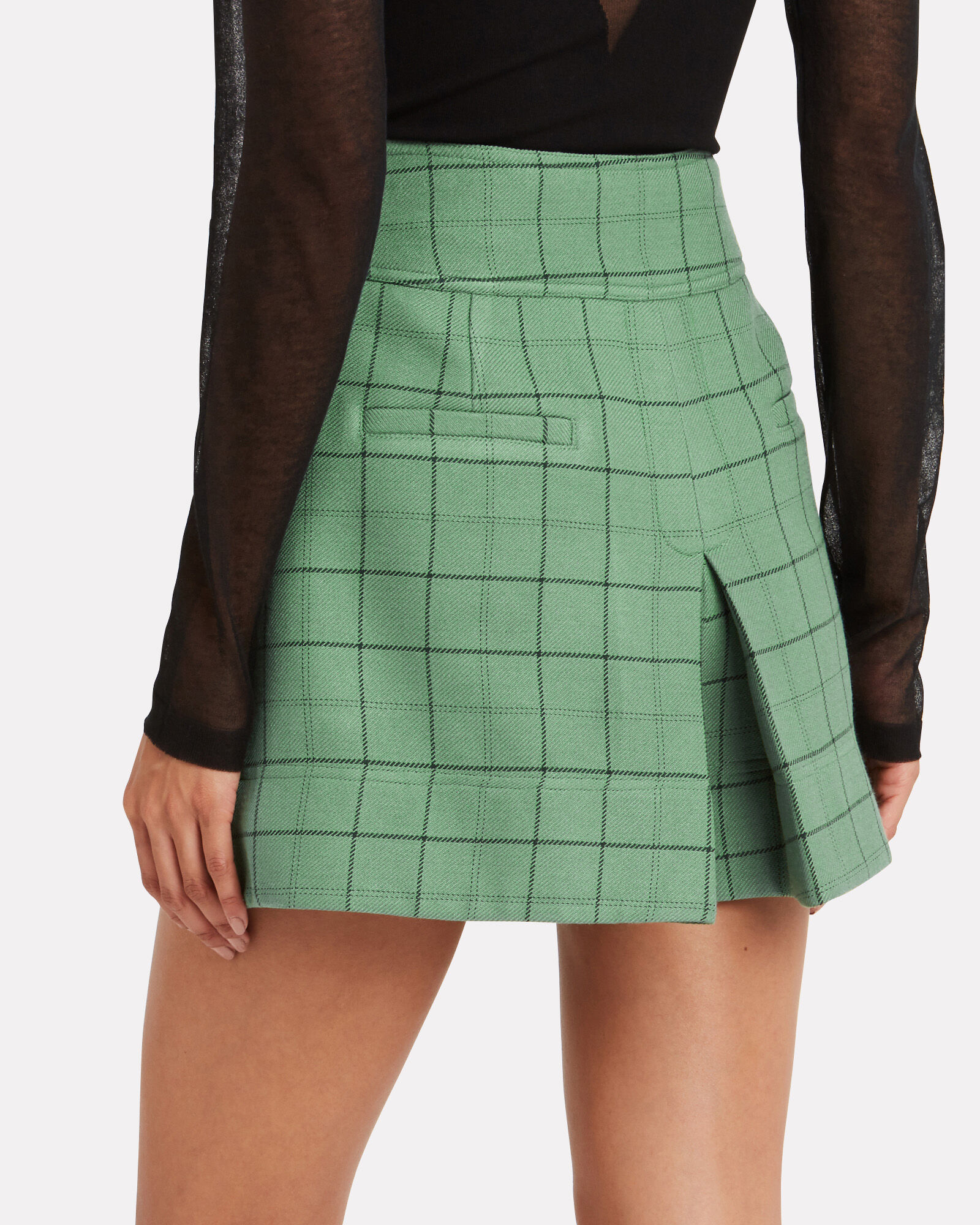 Windowpane Cargo Skort, GREEN-LT, hi-res