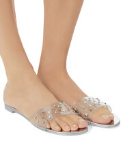 Nuvo Roll Studded Sandals, SILVER, hi-res