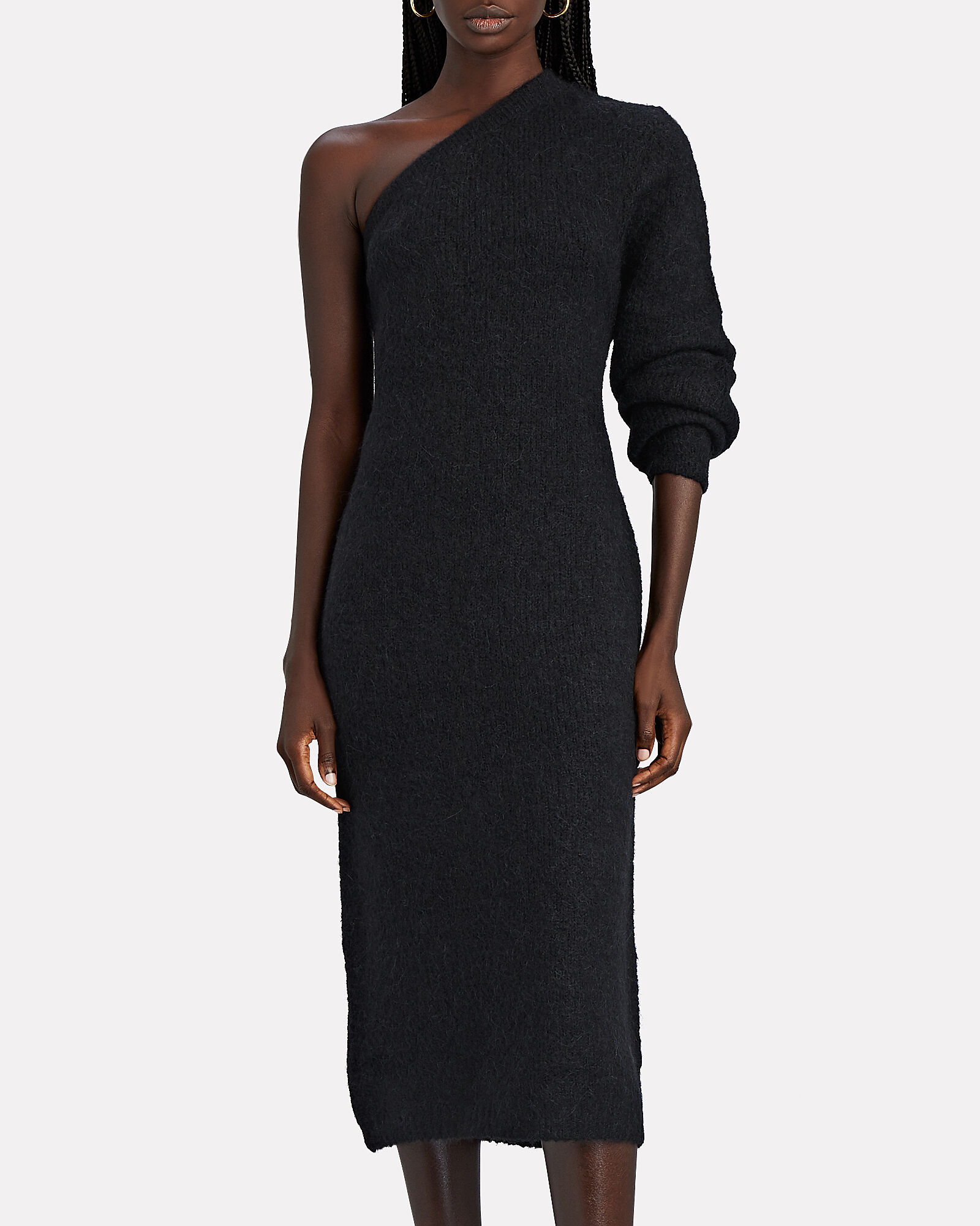 Motocyclette One-Shoulder Midi Dress, , hi-res