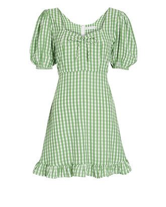 Agathe Gingham Mini Dress, MULTI, hi-res