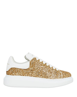 Glitter Platform Low-Top Sneakers, GOLD/WHITE, hi-res