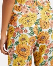Poppy Cropped Linen Flare Pants, MULTI, hi-res