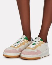Keira Low-Top Leather Sneakers, WHITE, hi-res