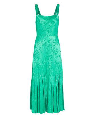 Oraina Sleeveless Jacquard Midi Dress, EMERALD, hi-res