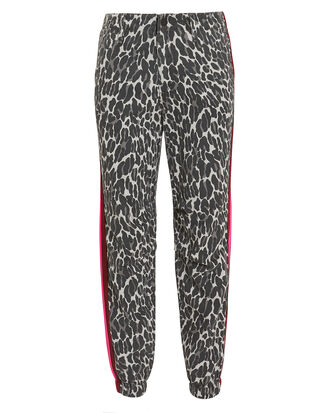 No Zip Misfit Pants, LEOPARD/RED/PINK, hi-res