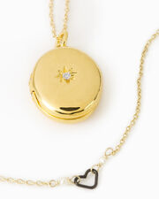 Jess Starburst Locket, GOLD, hi-res