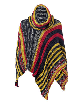 Turtleneck Poncho, MULTI, hi-res