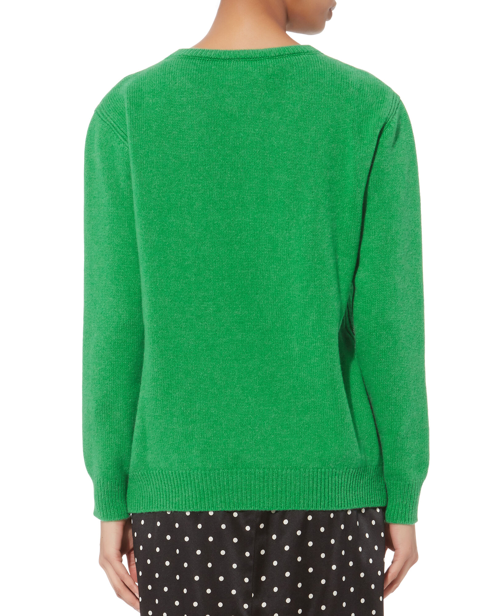 Wednesday Cashmere Sweater, GREEN, hi-res