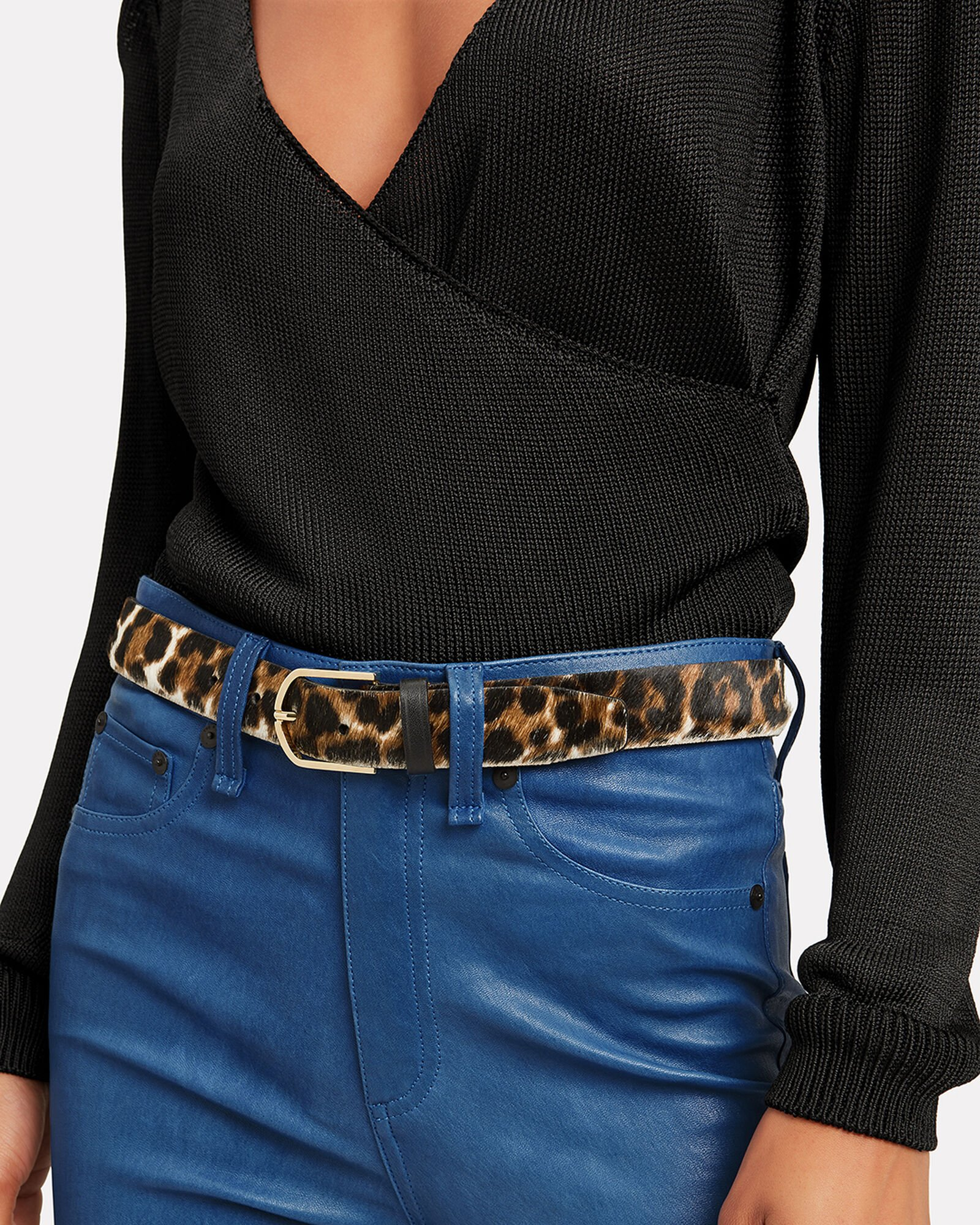 Leopard Print Belt, MULTI, hi-res