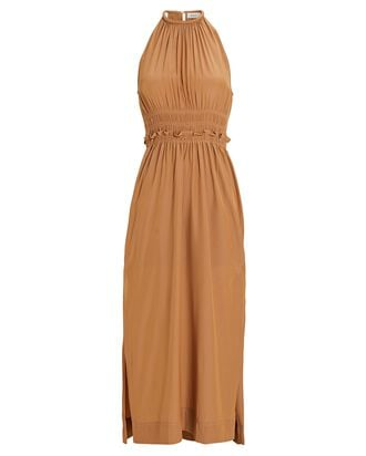 Klara Sleeveless Midi Dress, LIGHT BROWN, hi-res