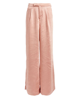 Take The Lead Satin Trousers, PALE PINK, hi-res