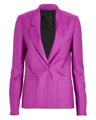 Sasha Virgin Wool Blazer, MAGENTA, hi-res