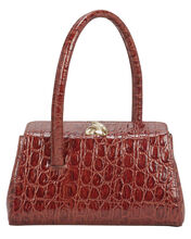Baby Boss Croc-Embossed Leather Bag, RED, hi-res