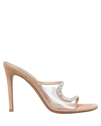 Ava Crystal-Accented Ghost Sandals, BLUSH, hi-res