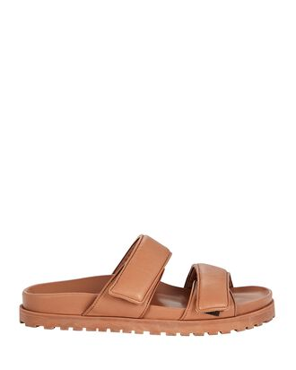 x Pernille Teisbaek Puffer Flat Sandals, BROWN, hi-res