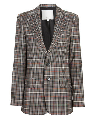 Gabe Oversized Check Blazer, MULTI, hi-res