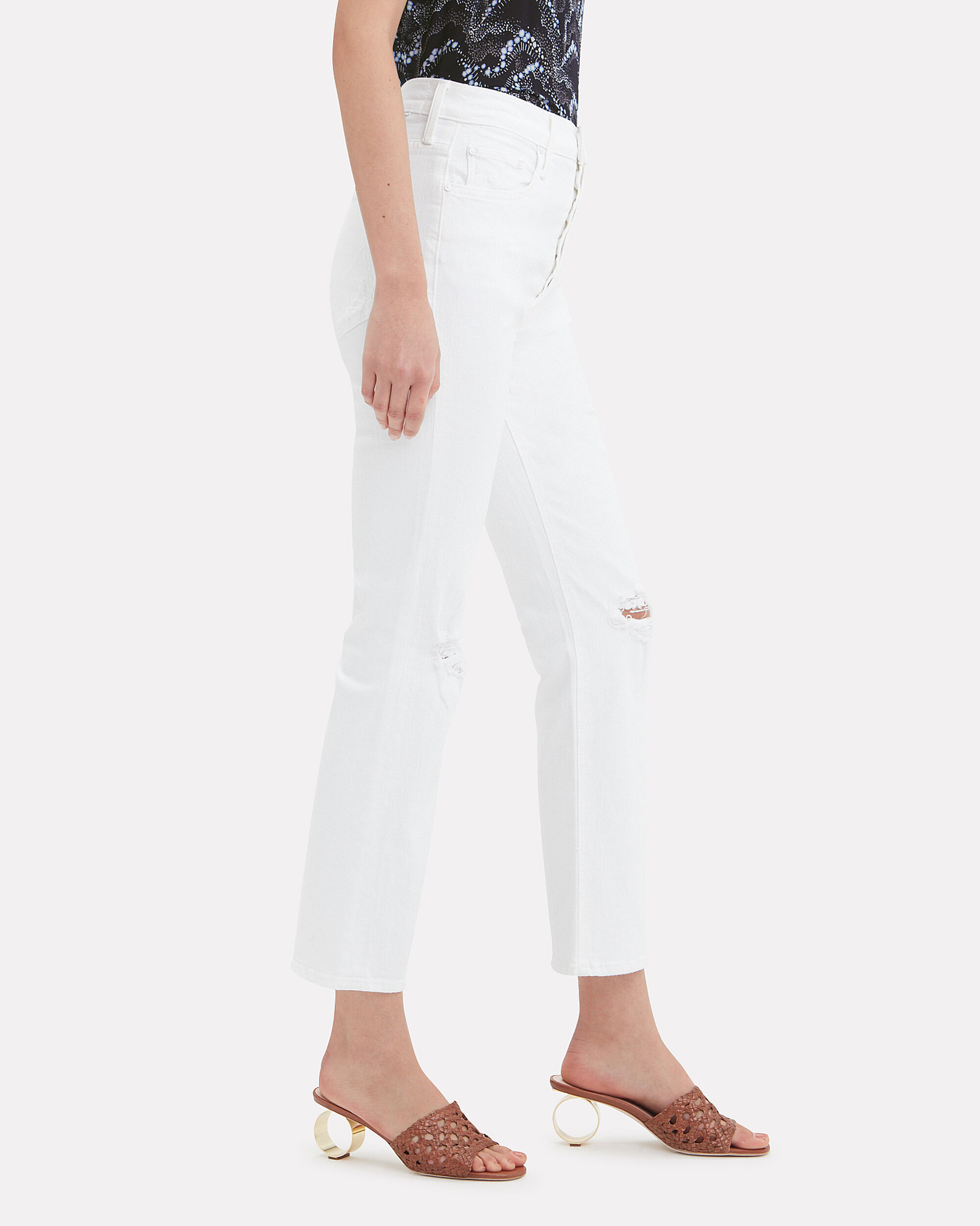 Tripper Distressed Jeans, WHITE, hi-res