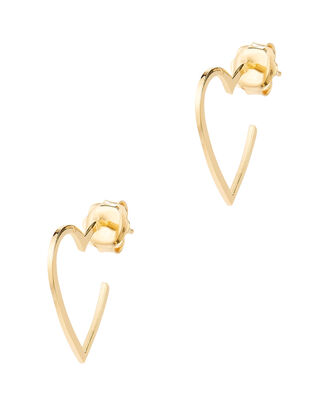 Larissa Mini Hoop Earrings, GOLD, hi-res