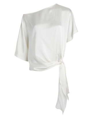 Valentina Charmeuse Off-Shoulder Top, IVORY, hi-res