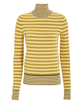 Turtleneck Sweater, YELLOW, hi-res