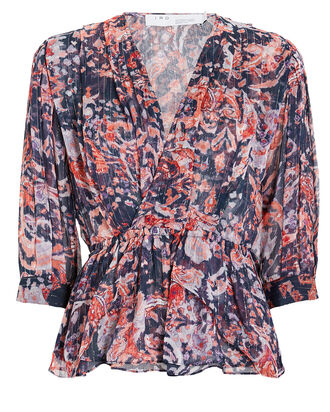 Saola Floral Blouse, BLUE/RED, hi-res