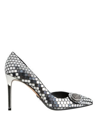 Julie Pumps, SILVER, hi-res