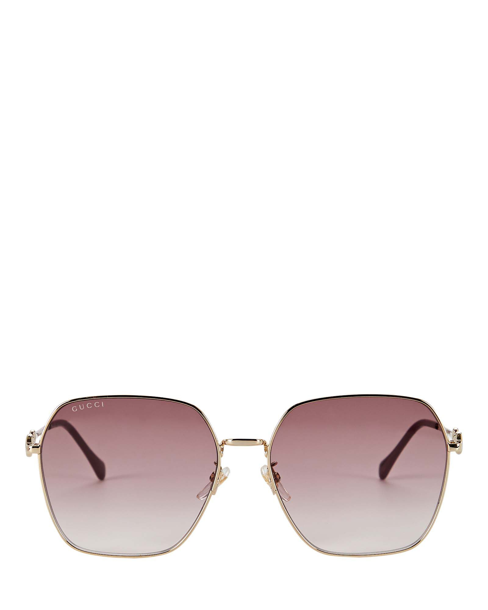 Oversized Rounded Square Sunglasses, GOLD, hi-res
