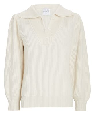 Crater Cashmere Polo Sweater, IVORY, hi-res