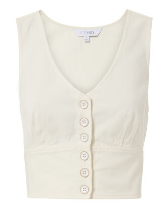 Vix Cotton Twill Top, IVORY, hi-res