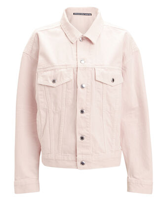 Game Denim Jacket, PINK, hi-res