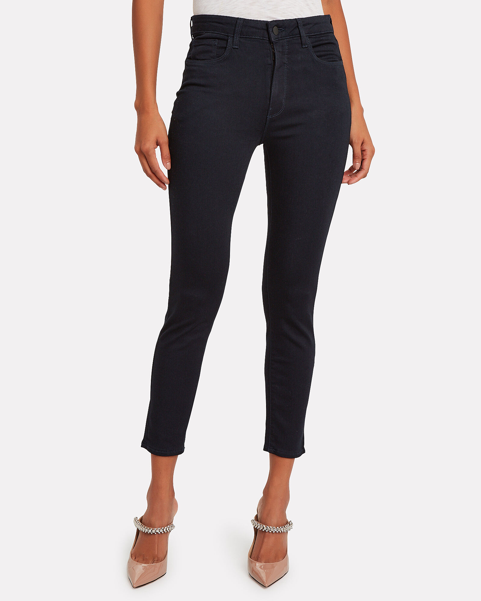 Margot High-Rise Skinny Jeans, DARK INDIGO DENIM, hi-res