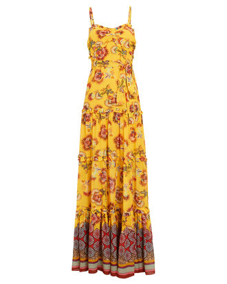 Lussa Printed Chiffon Maxi Dress, MULTI, hi-res