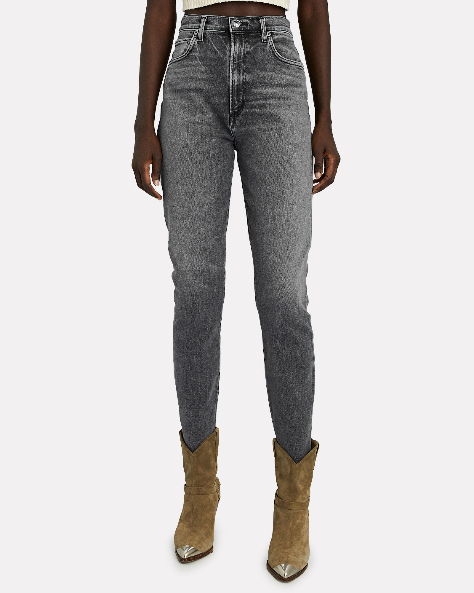 Pinch Waist Skinny Jeans, INTERLUDE, hi-res