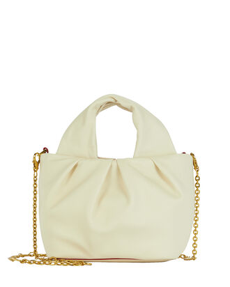 Mini Lera Folded Leather Bag, CREAM, hi-res
