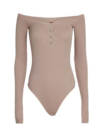 Sutton Off-the-Shoulder Bodysuit, BLUSH, hi-res
