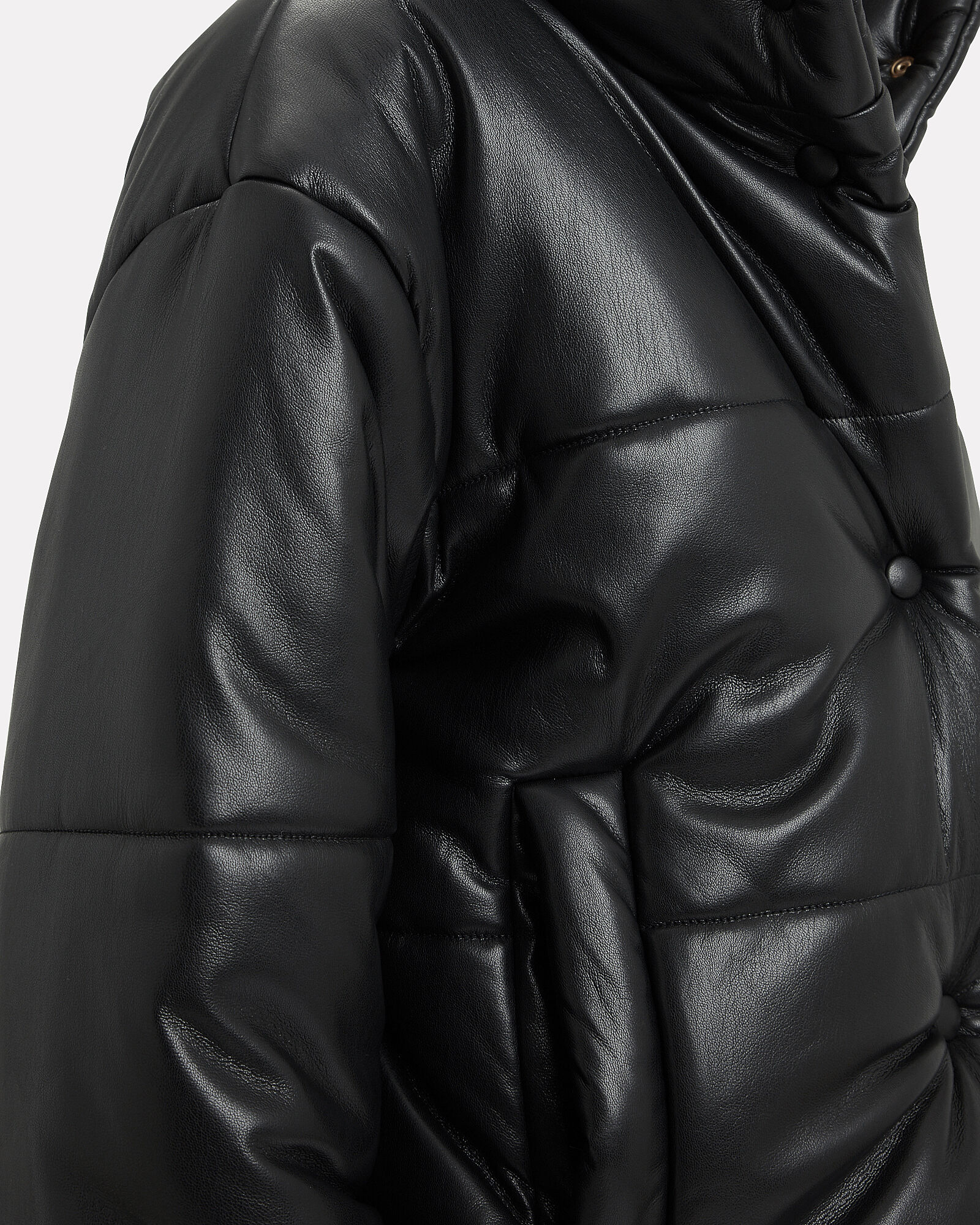 Hide Puffer Jacket, BLACK, hi-res