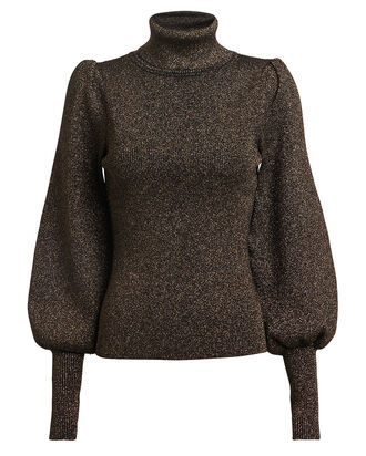 Karla Bishop Sleeve Turtleneck Sweater, GOLD, hi-res