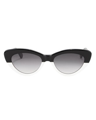 Pamela Colorblocked Sunglasses, BLK/WHT, hi-res