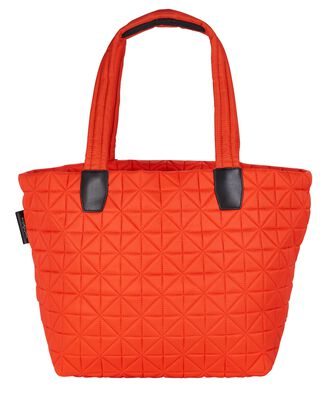 Vee Medium Quilted Tote Bag, ORANGE, hi-res