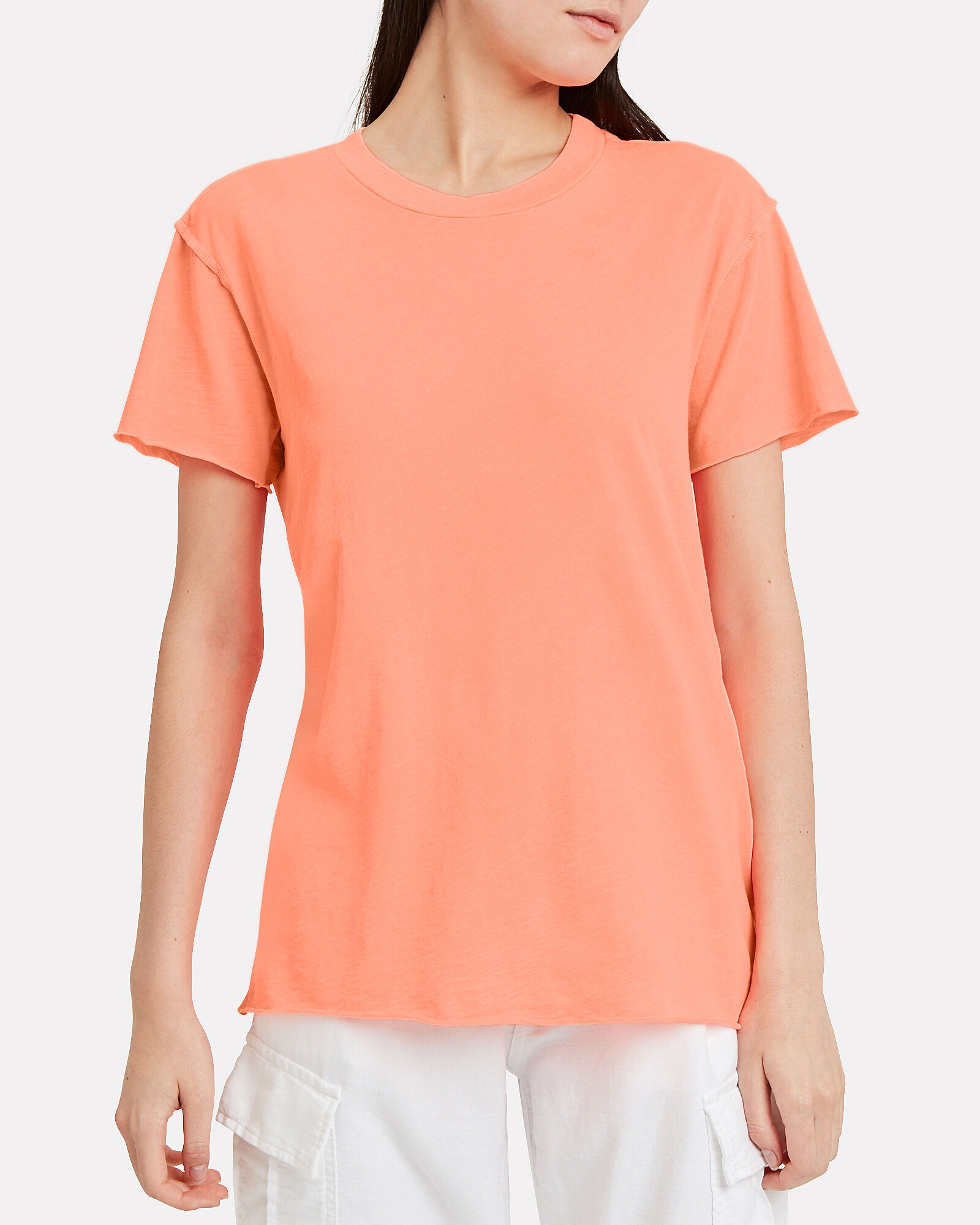Moore Inside-Out Jersey Tee, NEON CORAL, hi-res