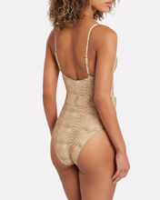 Danielle Snake-Printed One-Piece Swimsuit, BEIGE/SNAKE, hi-res